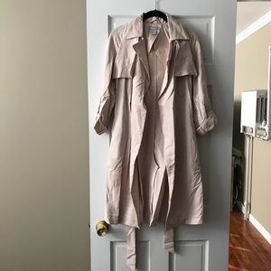 H&M Blush Beige trench coat spring/fall size 2